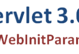 Declare Servlet 3.0 Initialization parameter using @WebInitParam