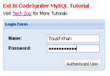 Learn ExtJS, CodeIgniter and MySQL integration now