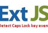 ExtJS textfield capture Caps Lock key event