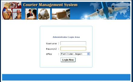 Courier Management System  Screen shot