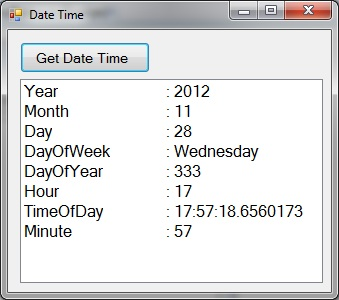 Date and Time in C#.Net