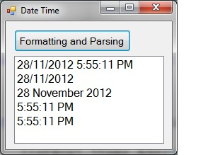 Formatting and parsing Date in C#.Net