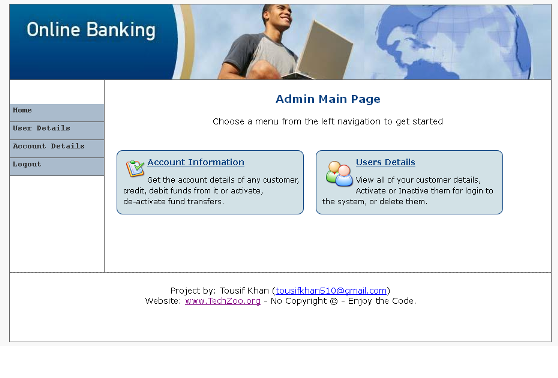 Online Banking project in PHP - TechZoo - Technology Blog