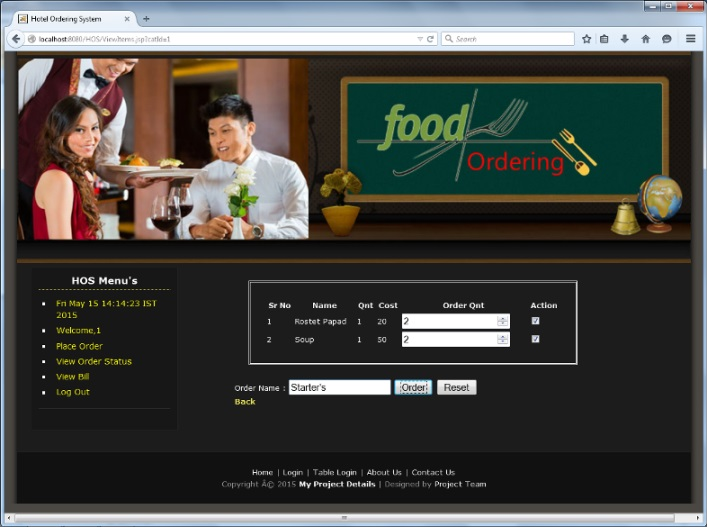 Hotel Ordering System – Java Project - TechZoo - Technology Blog