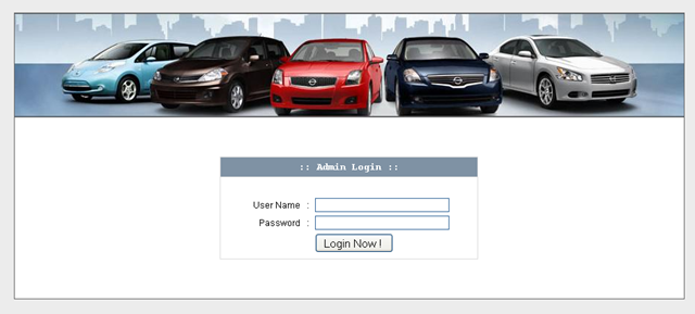 Vehicle Insurance System - Login Page